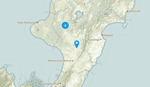 Manawatu-Wanganui Region, New Zealand Mountain Biking Map