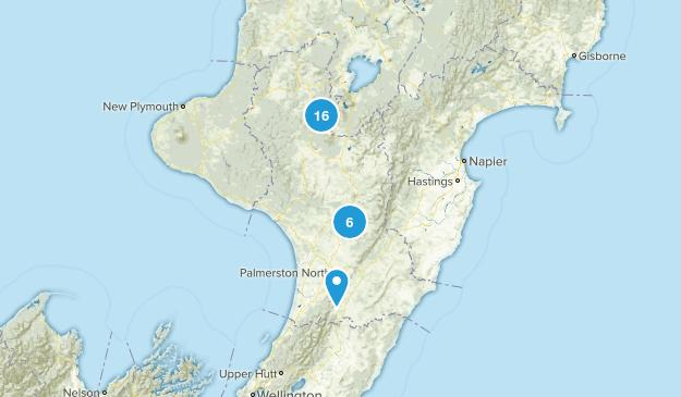Manawatu-Wanganui Region, New Zealand Nature Trips Map