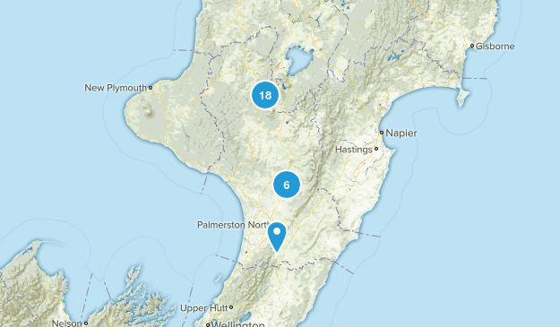 Manawatu-Wanganui Region, New Zealand Views Map