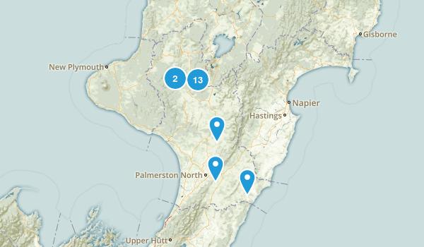 Manawatu-Wanganui Region, New Zealand Walking Map