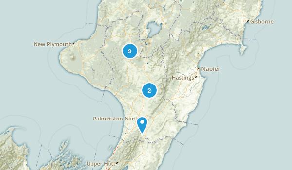 Manawatu-Wanganui Region, New Zealand Wild Flowers Map