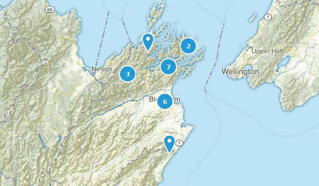 Marlborough, New Zealand Hiking Map