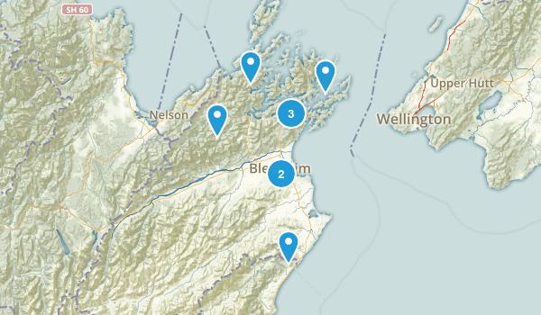 Marlborough Region, New Zealand Hiking Map