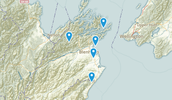 Marlborough Region, New Zealand Wildlife Map