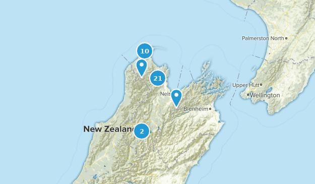 Nelson-Tasman, New Zealand Hiking Map