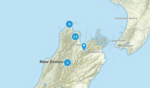 Nelson-Tasman, New Zealand Nature Trips Map