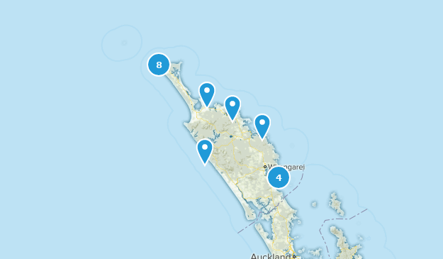 Northland, New Zealand Beach Map