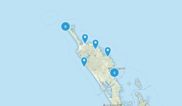 Northland Region, New Zealand Beach Map