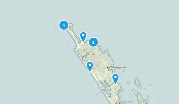 Northland Region, New Zealand Birding Map