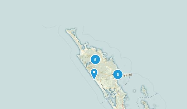 Northland Region, New Zealand Forest Map