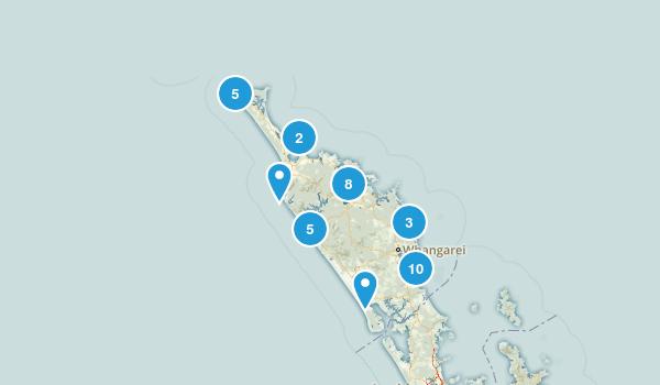 Northland Region, New Zealand Hiking Map