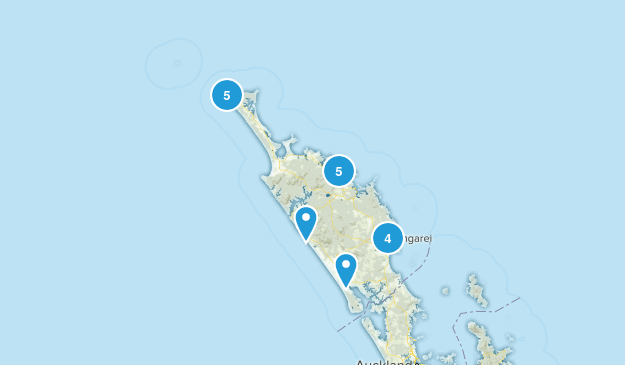Northland Region, New Zealand Nature Trips Map