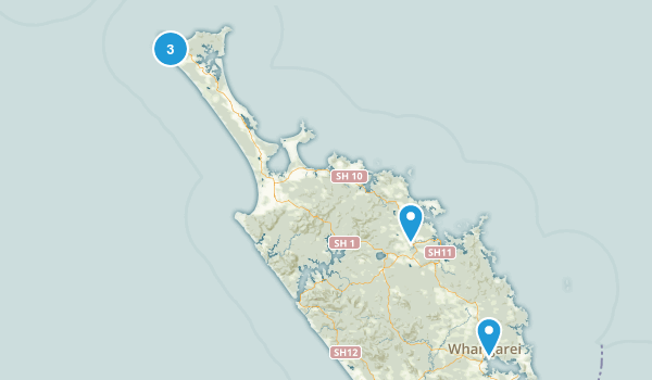 Northland Region, New Zealand River Map