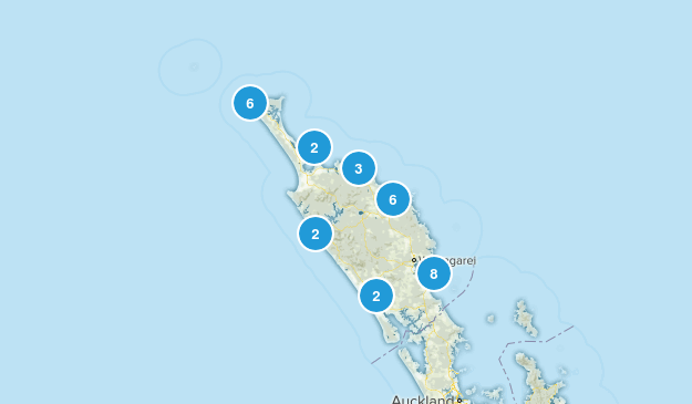 Northland Region, New Zealand Views Map