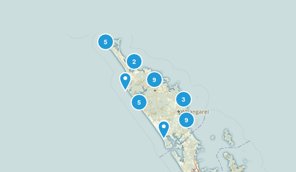 Northland Region, New Zealand Walking Map