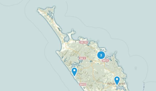 Northland Region, New Zealand Waterfall Map
