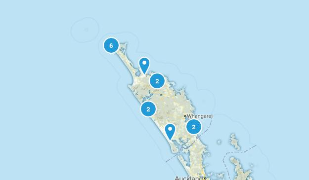 Northland Region, New Zealand Wildlife Map