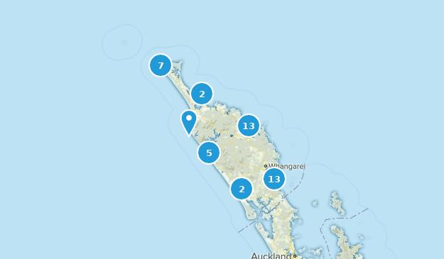 Northland, New Zealand Walking Map