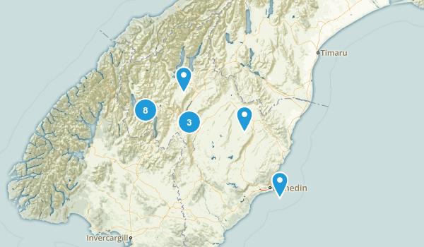 Otago Region, New Zealand Mountain Biking Map