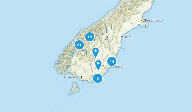 Otago Region, New Zealand Wildlife Map