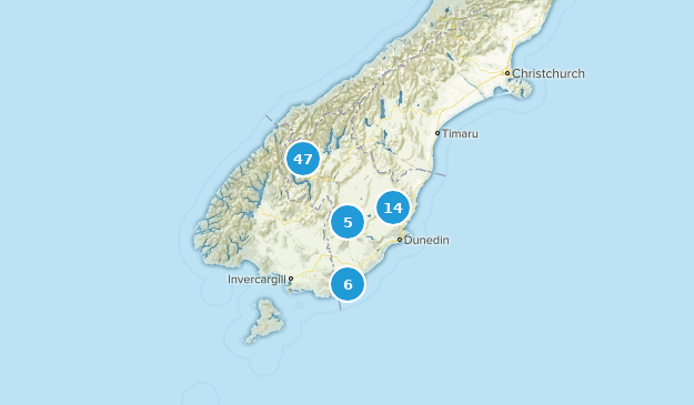 Otago, New Zealand Wild Flowers Map