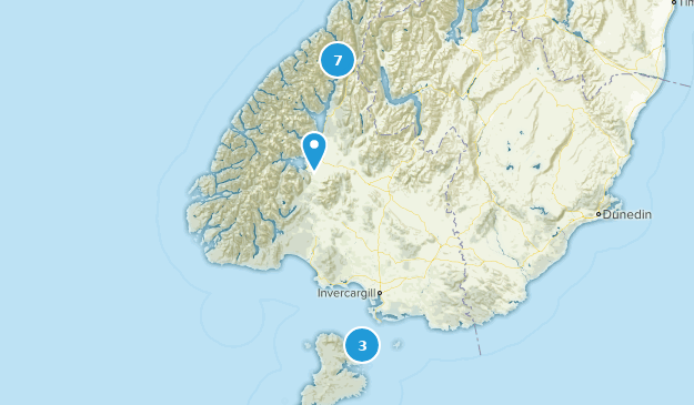Southland, New Zealand Forest Map