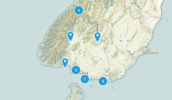 Southland Region, New Zealand Views Map