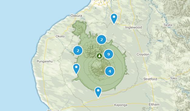 Taranaki Region, New Zealand Birding Map