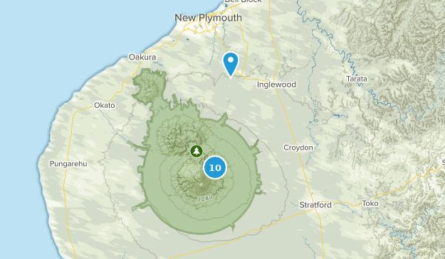 Taranaki Region, New Zealand Forest Map