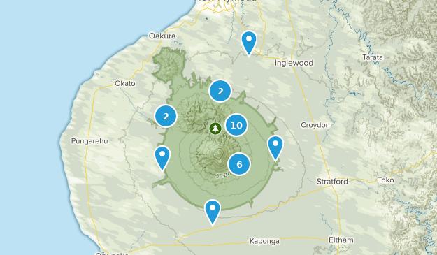 Taranaki Region, New Zealand Nature Trips Map