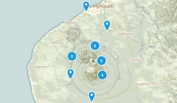 Taranaki Region, New Zealand Views Map