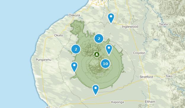 Taranaki Region, New Zealand Wild Flowers Map