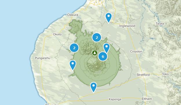 Taranaki Region, New Zealand Wildlife Map
