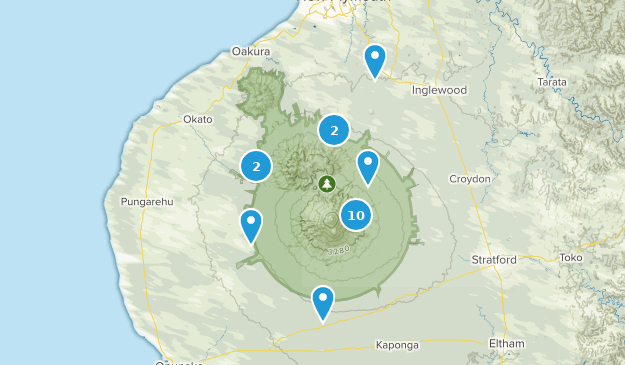 Taranaki, New Zealand Wild Flowers Map