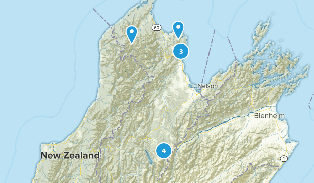Tasman, New Zealand Backpacking Map