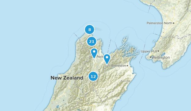Tasman, New Zealand Hiking Map