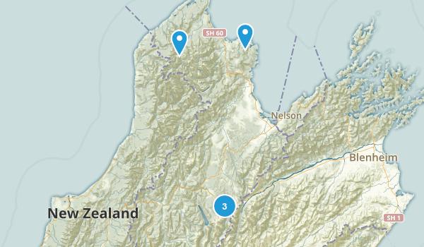 Tasman Region, New Zealand Backpacking Map