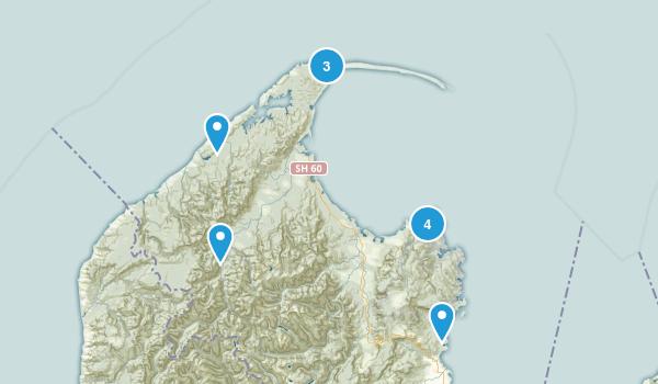 Tasman Region, New Zealand Beach Map