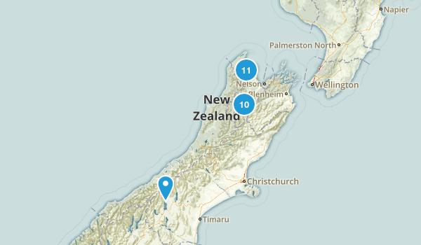 Tasman Region, New Zealand Parks Map