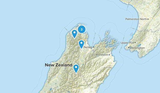 Tasman Region, New Zealand Trail Running Map