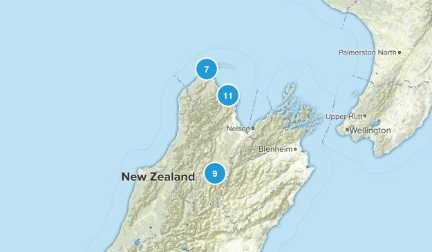 Tasman Region, New Zealand Wildlife Map