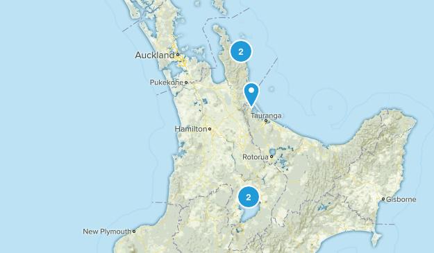 Waikato Region, New Zealand Beach Map