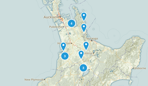 Waikato Region, New Zealand Nature Trips Map
