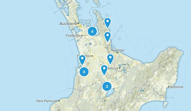 Waikato Region, New Zealand Nature Trips Map