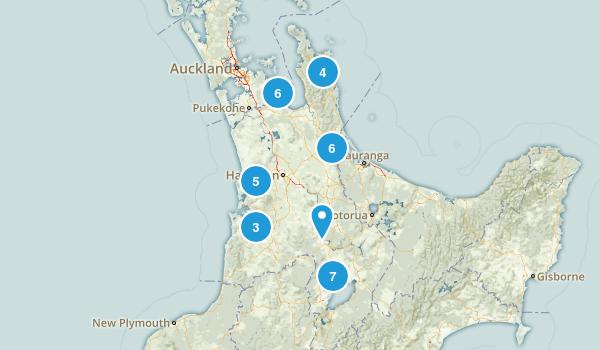 Waikato Region, New Zealand Views Map