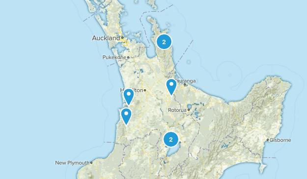 Waikato Region, New Zealand Waterfall Map