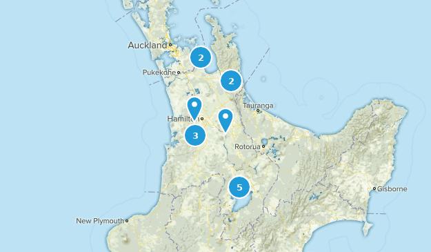 Waikato, New Zealand Trail Running Map