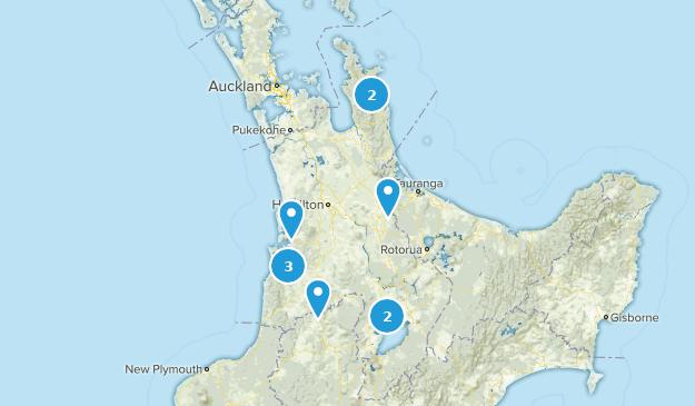 Waikato, New Zealand Waterfall Map