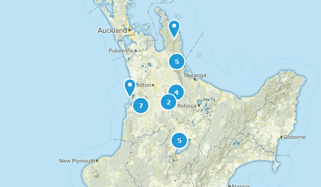 Waikato, New Zealand Wildlife Map