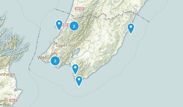 Wellington Region, New Zealand Kid Friendly Map